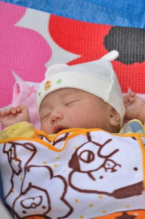Sleeping baby 版權商用圖片