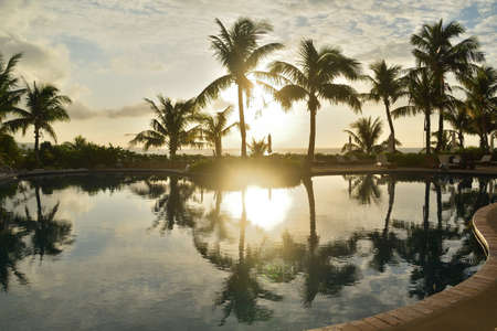 Sunset scenery in southern Okinawa