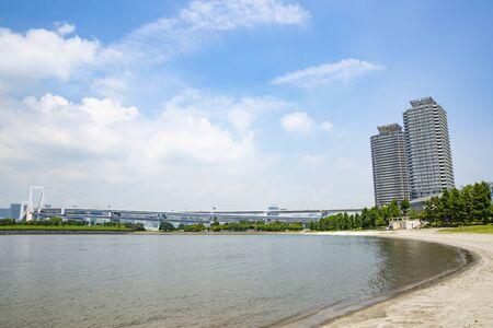 Beach in Odaiba, Tokyo (summer)