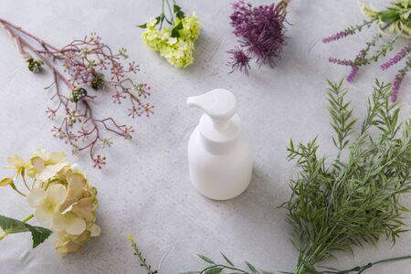 Organic white bottle Zdjęcie Seryjne