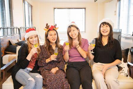 Christmas Party Cheers Banco de Imagens
