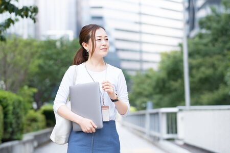 Outdoor BusinessWoman Stock Photo