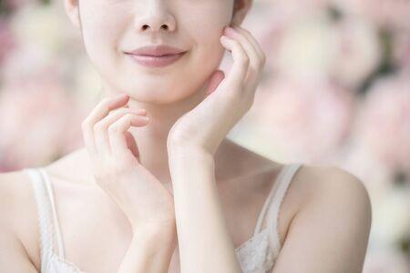 Skin Care, Women,Flower Background