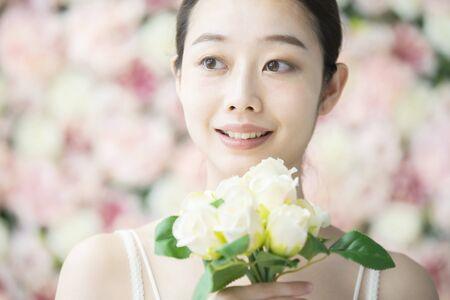 Cura della pelle, sfondo floreale Flower