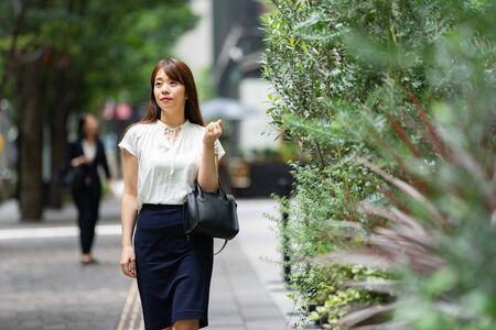Businesswoman Commuting Standard-Bild - 134831731