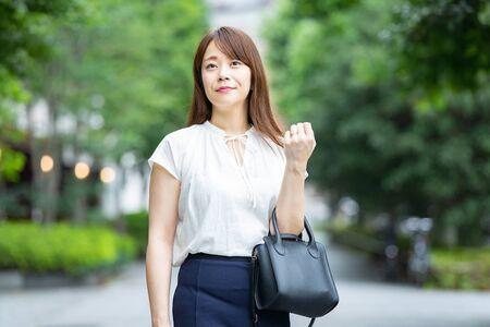Businesswoman Commuting Standard-Bild - 134831779