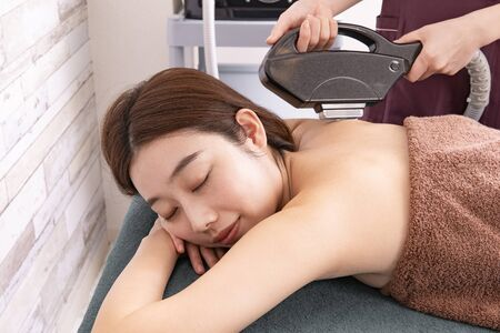 Hair removal salon, back
