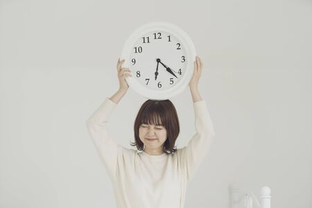 a woman who is impatient for time