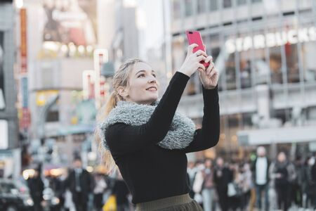 Women sightseeing in Japan, Tokyo, and Shibuya