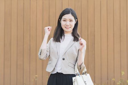 Businesswoman Posing Guts