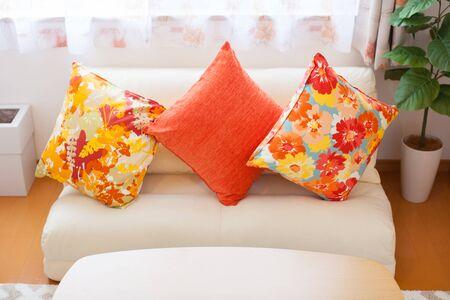 Cushion on the sofa