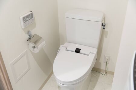 Bathroom with water closet with bidet