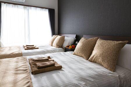 Interior of a bedroom Foto de archivo