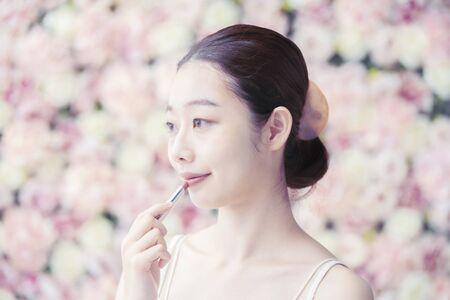 Woman,Flower Background