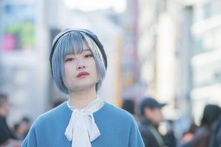 Portrait of girl at Shibuya Center Street