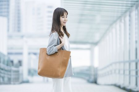 Businesswoman Commuting