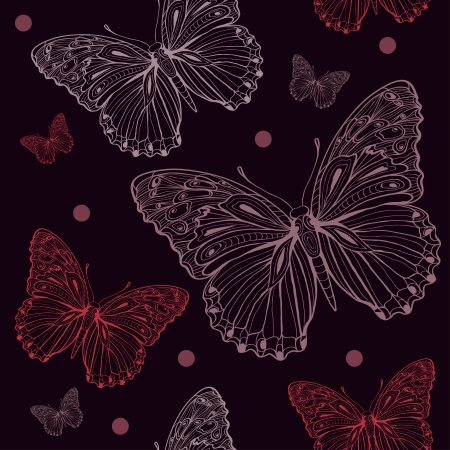 butterfly dark seamless Stock Vector - 18232217