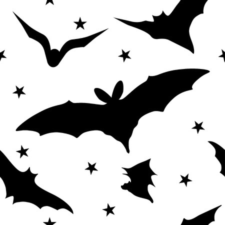 Seamless halloween pattern with  bats