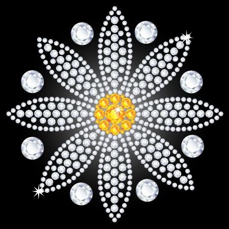 diamond flower Illustration