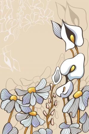 decorative flowers Illustration