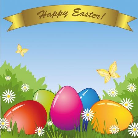 spring easter eggs Illustration