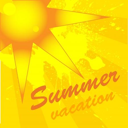 Bright solar composition Illustration