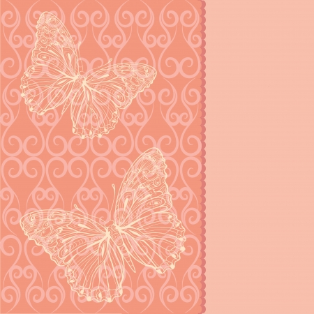 card with butterflies Illustration