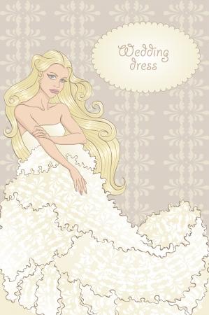 Wedding dress Stock Vector - 19378216