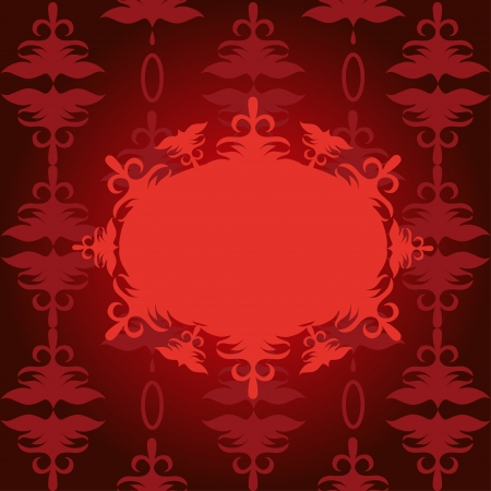 red ornament background Stock Vector - 20143125