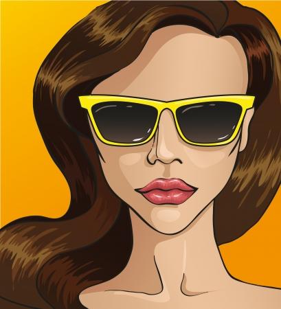 women in sunglasses Stock Vector - 20408107