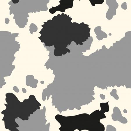 Seamless texture of  black cow skin