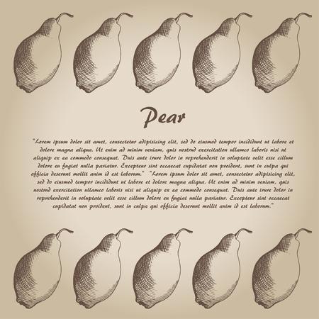 drown: vector hand drown pear