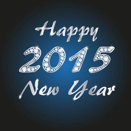 Diamond 2015 new year banner, vector illustration Vector