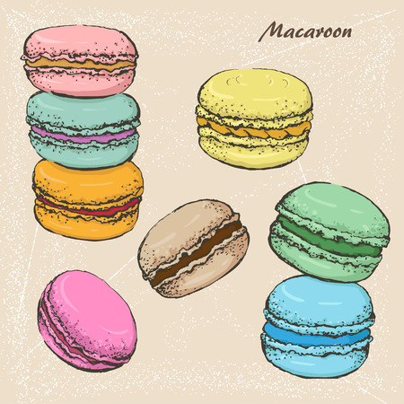 The sketch of Macaroon. Vettoriali