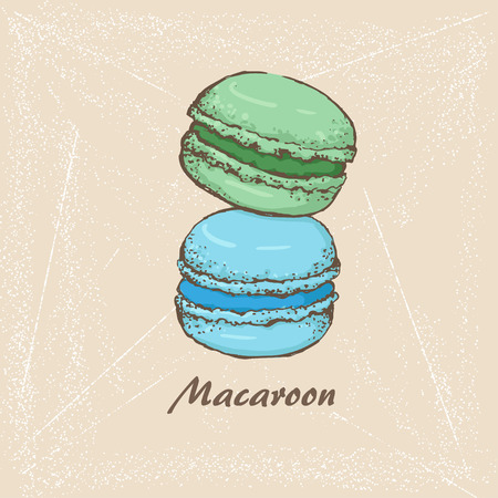 macaroon: The sketch of Macaroon Illustration