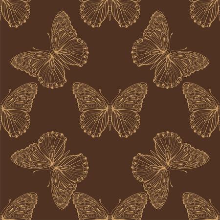 butterfly stroke: vector butterfly  pattern