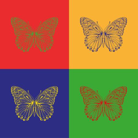 butterfly stroke: vector butterfly