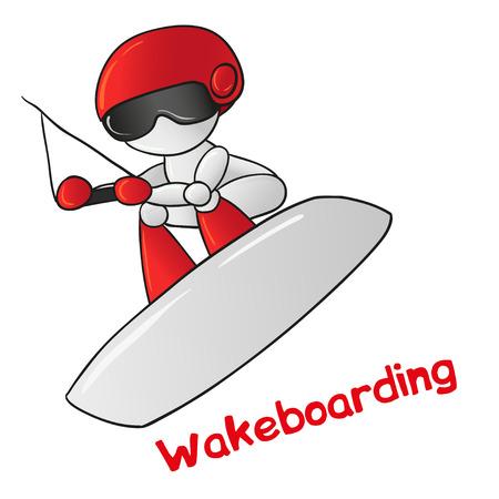 lifejacket: Wakeboarder robot