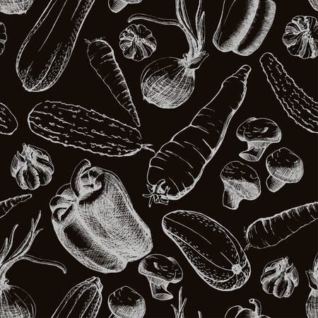 the seamless texture with vegetables Illustration