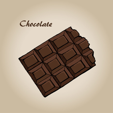 Sketch of Chocolate bar, vector illustration