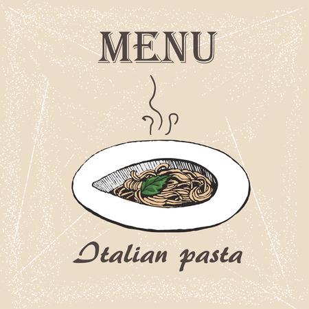 designe: Italian Pasta vector. designe for menu, sketch