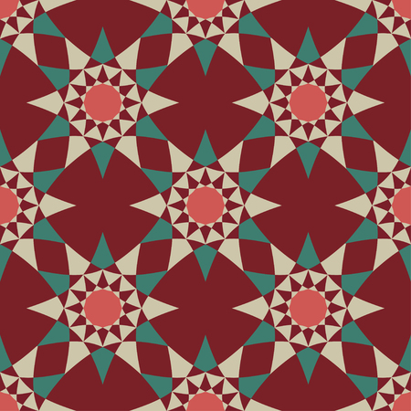 Seamless texture with geometric ornament, vector design