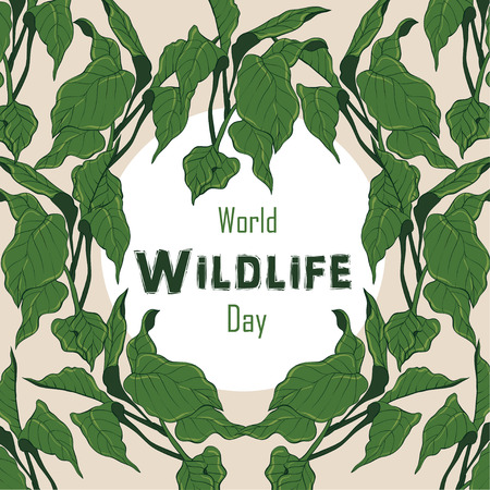 World wildlife day Illustration