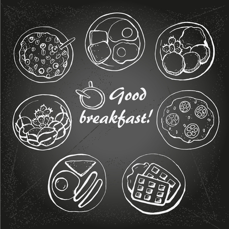 건강한 아침 식사 1 일러스트