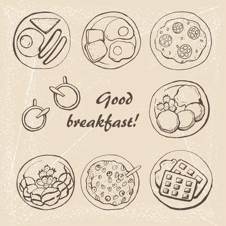 Healthy breakfast 2 Illustration