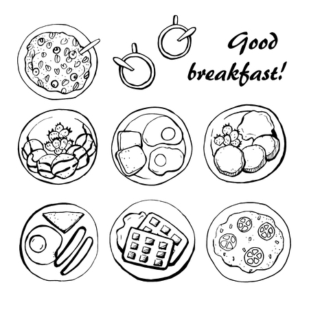 Healthy breakfast sketch