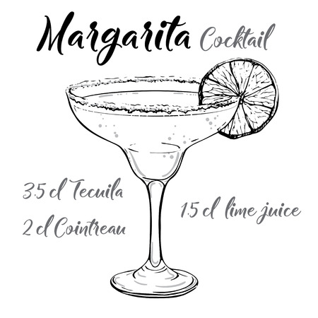 Margarita cocktail vector Illustration