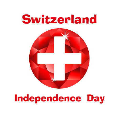 Flag of Switzerland for Swiss independence day