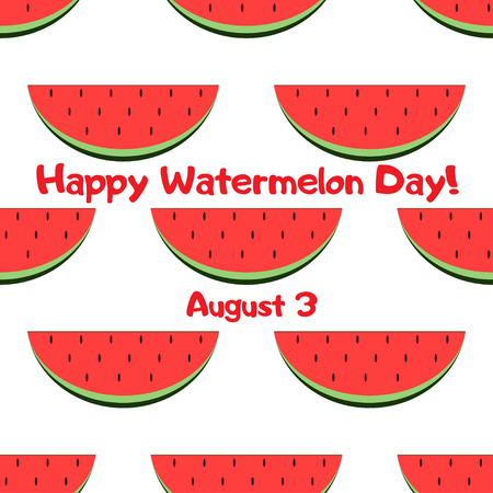 National Watermelon Day Celebration Banner. Geating card 6