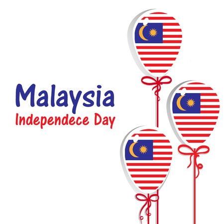 Malaysia Independence day. Malaysia flag. 31 th of August 1 Illustration